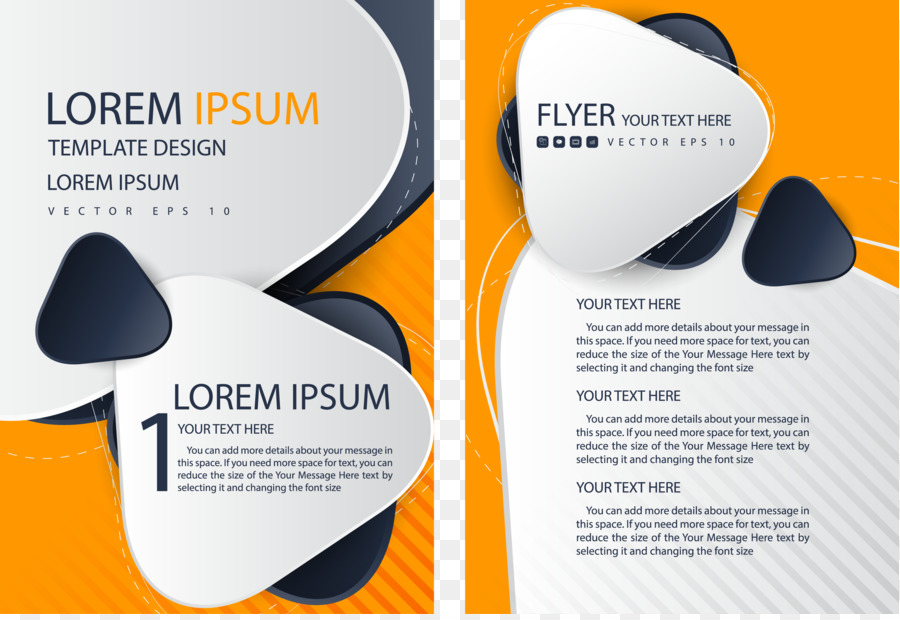 Flyer Brochure Template Single Page Png Download 30832105