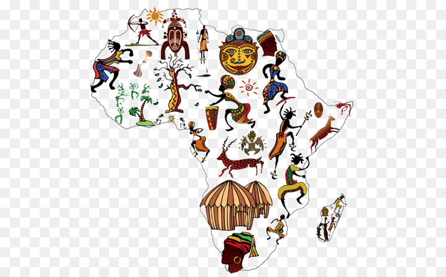 Africa Cartoon Map Creative Map Of Africa Png Download 1648 1015