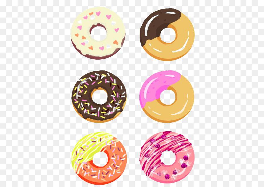 Doughnut Drawing Dessert Illustration Cartoon Donut Png Download