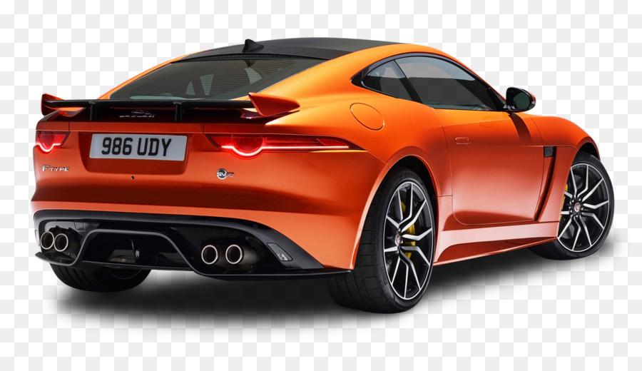 2016 Jaguar F TYPE Geneva Motor Show Sports Car   Orange Jaguar F Type SVR  Coupe Back View Car