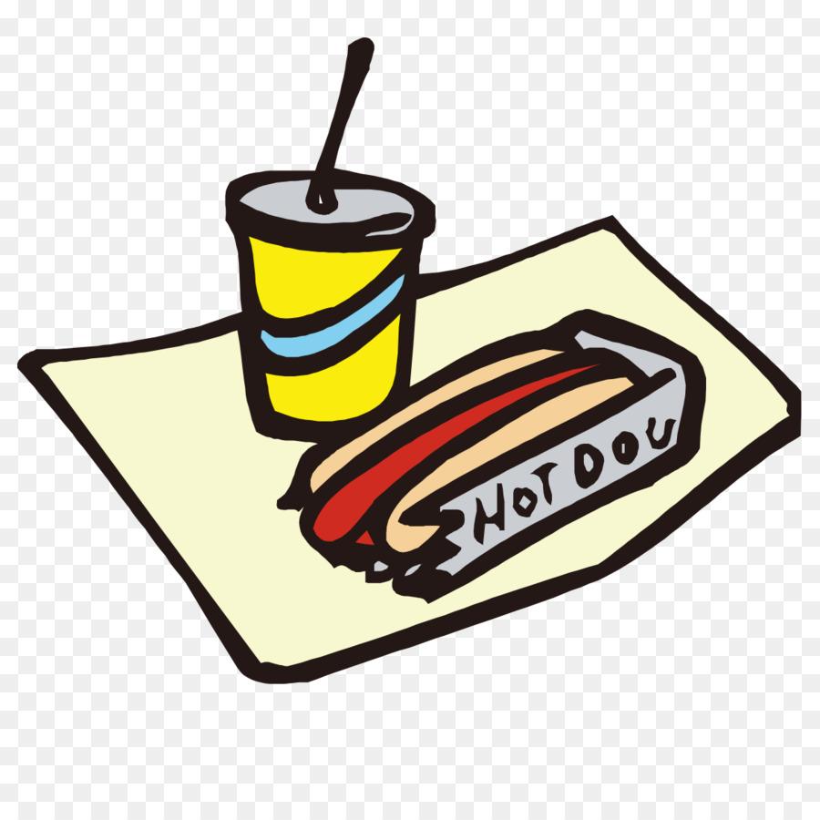 Perro caliente de la bebida Suave Hamburguesa de comida Rápida Clip ...