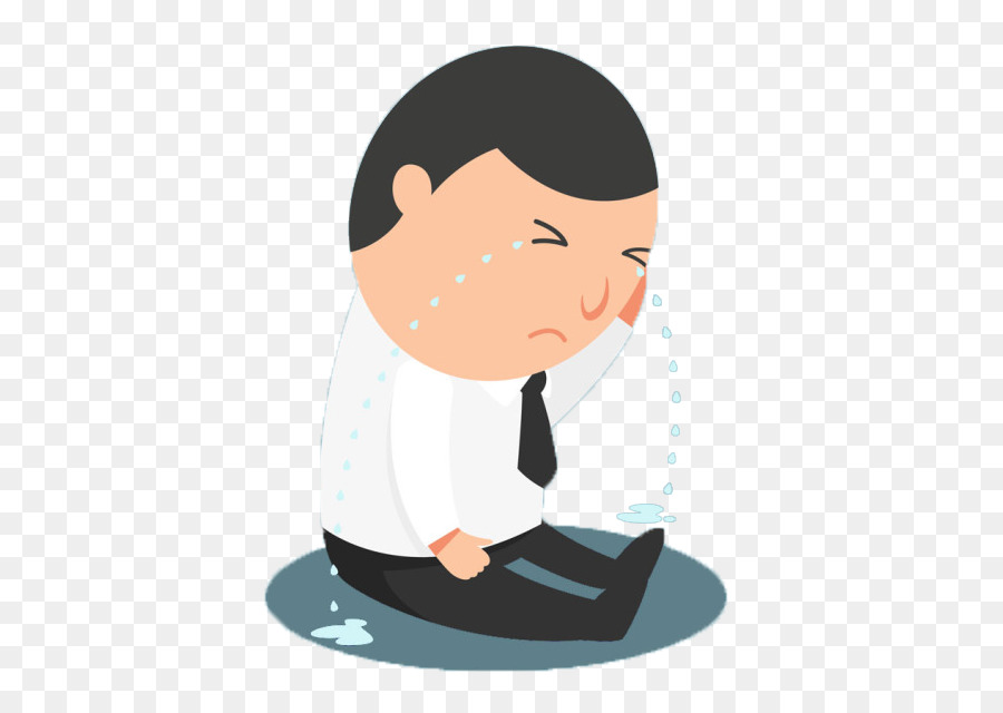 Crying Cartoon Sadness Crying Man Png Download 490 629 Free