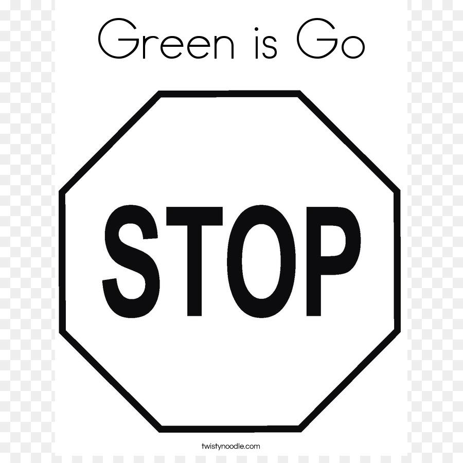 Libro para colorear señal de Stop Página Clip art - Bulling Fotos ...