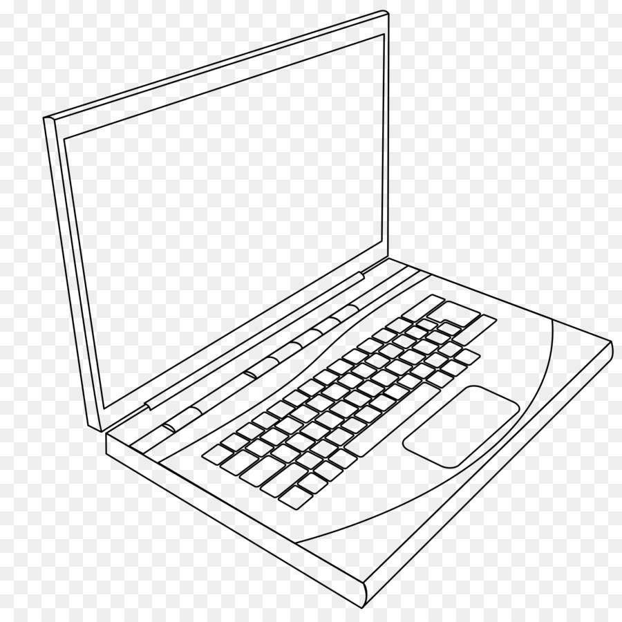 Laptop Coloring book Computer keyboard Page - Lap Cliparts png ...