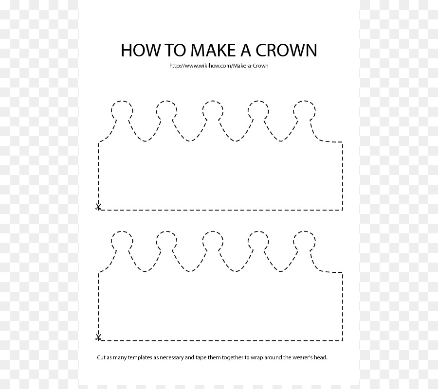 Paper Crown Template Birthday Clip art - Crown Template png download ...