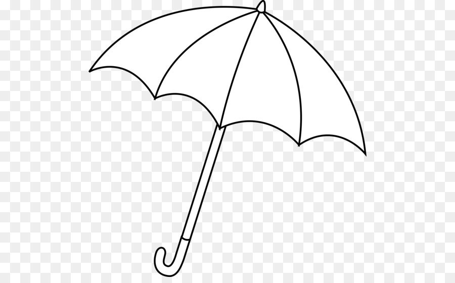 Umbrella Black And White Clip Art