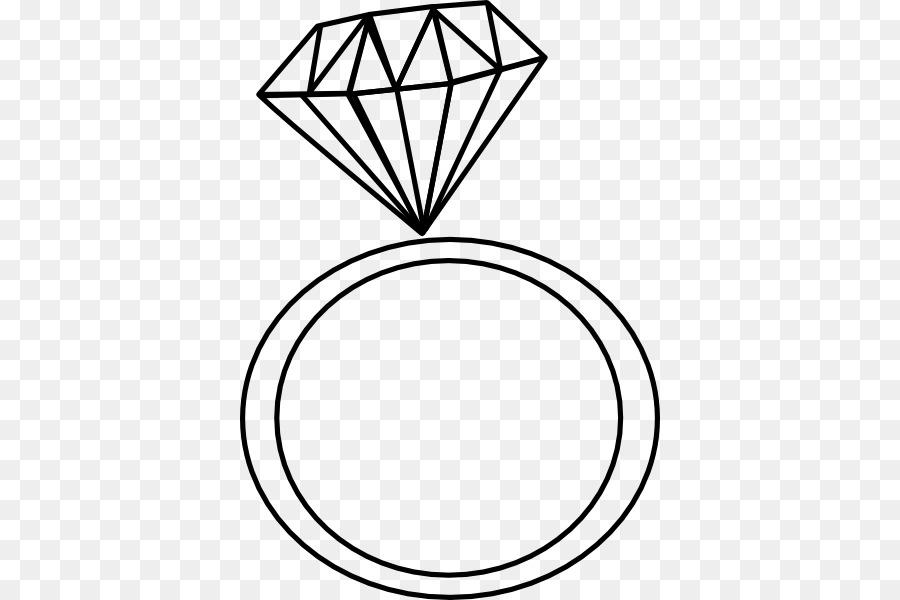 Engagement Ring Diamond Wedding Ring Clip Art Black And White