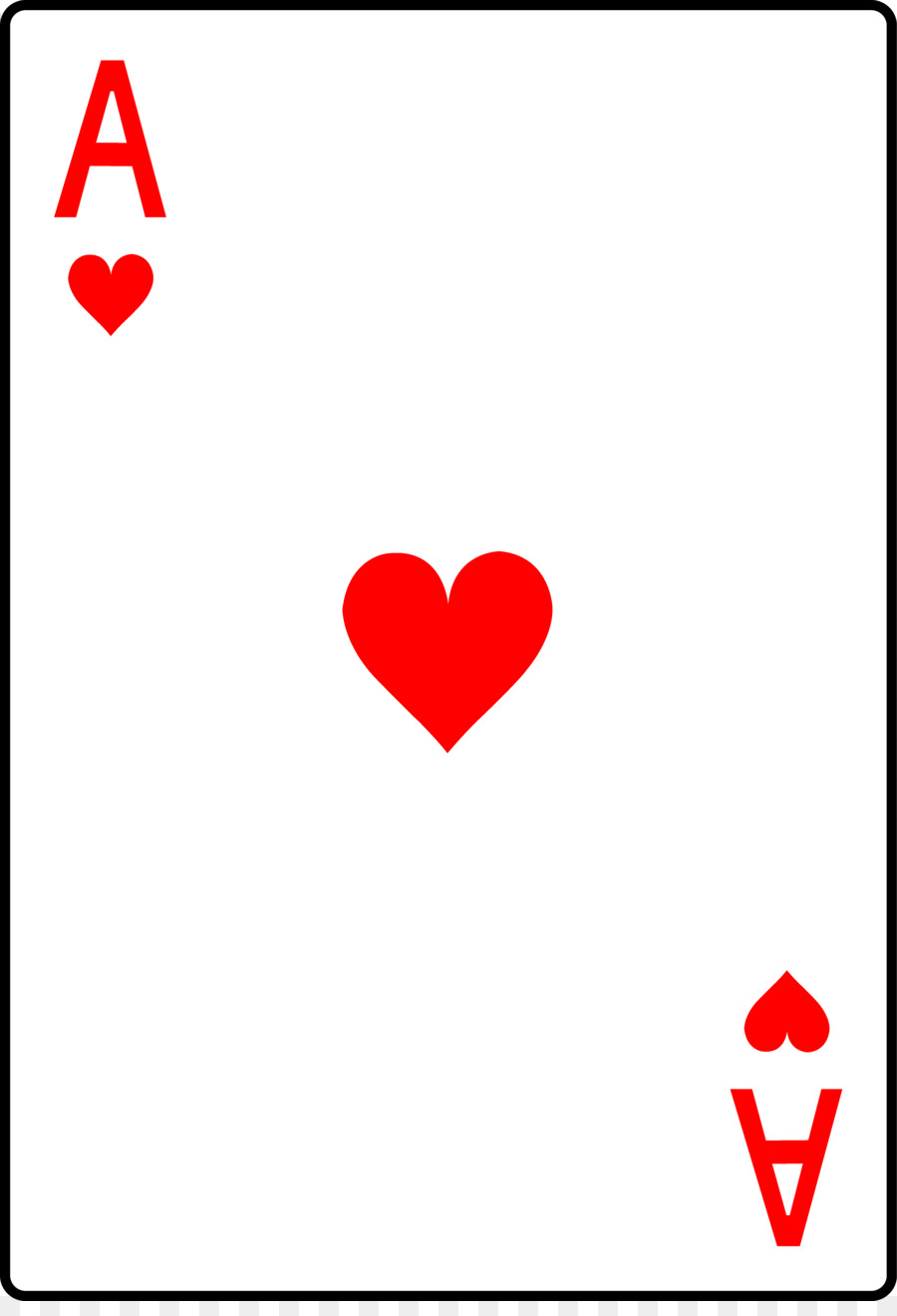 playing card ace of hearts onecard suit heart playing