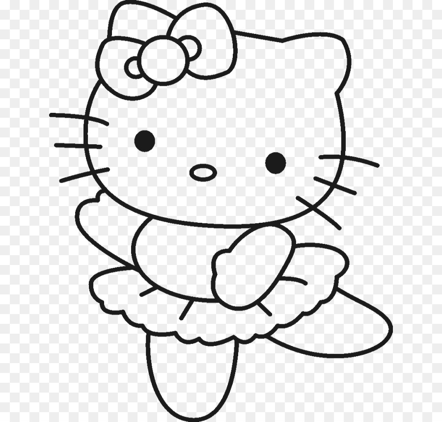 Hello Kitty Coloring Book Drawing Page
