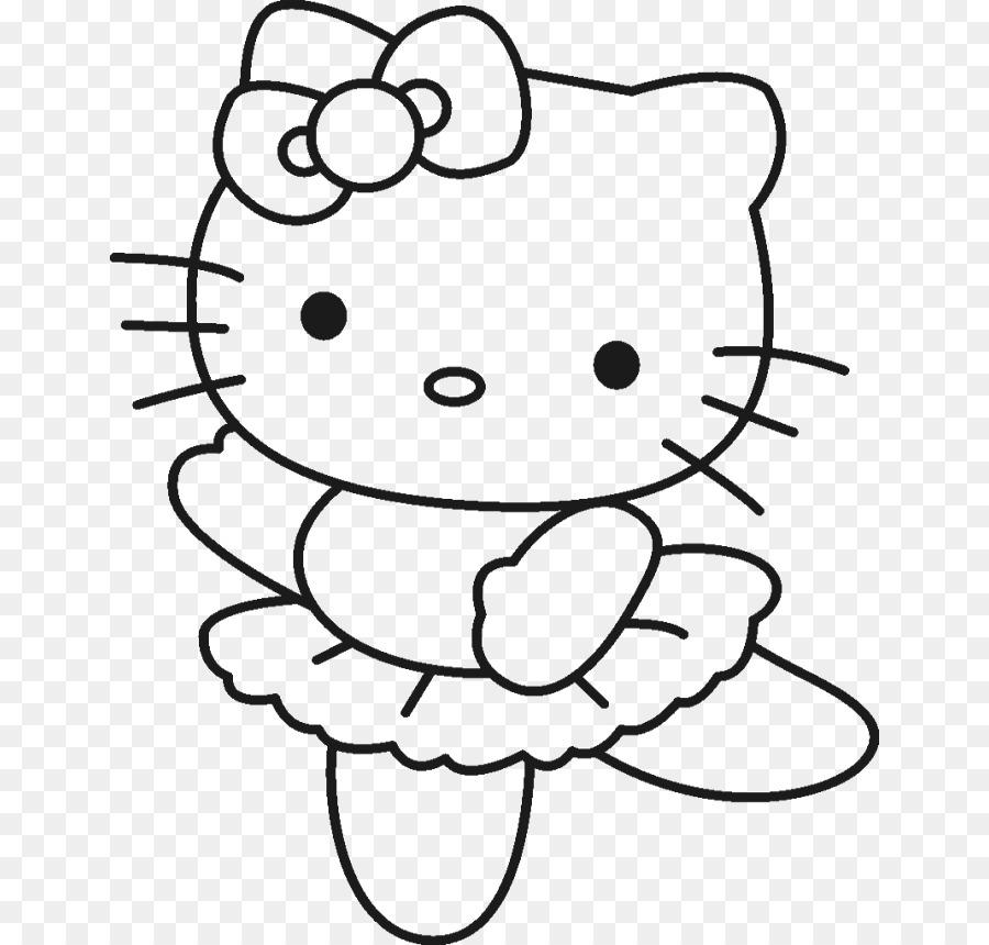 Hello Kitty Colorear el Dibujo de la Página - Lindo Dragón Imágenes ...