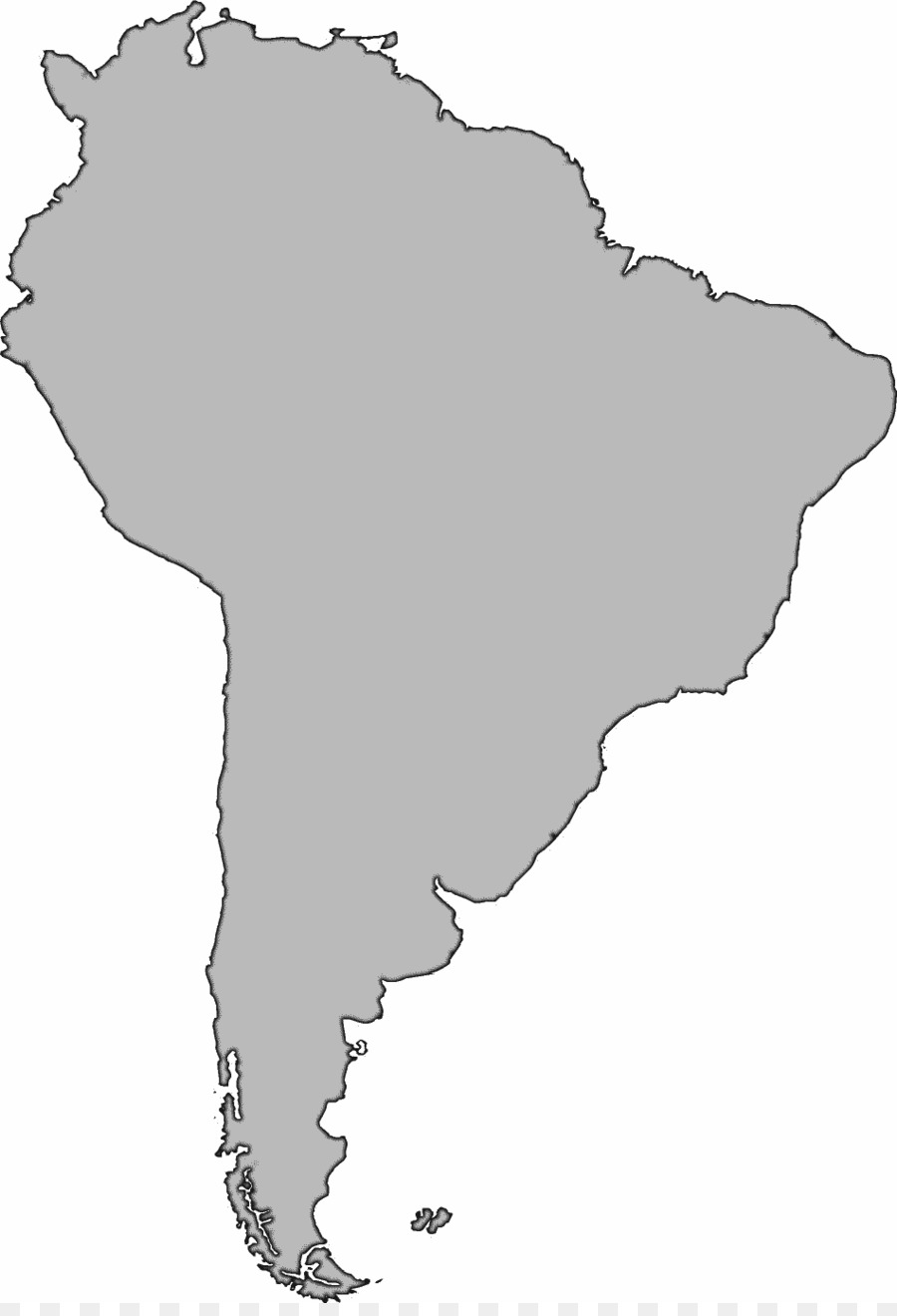 United States South America Blank map Clip art - Latin American ...
