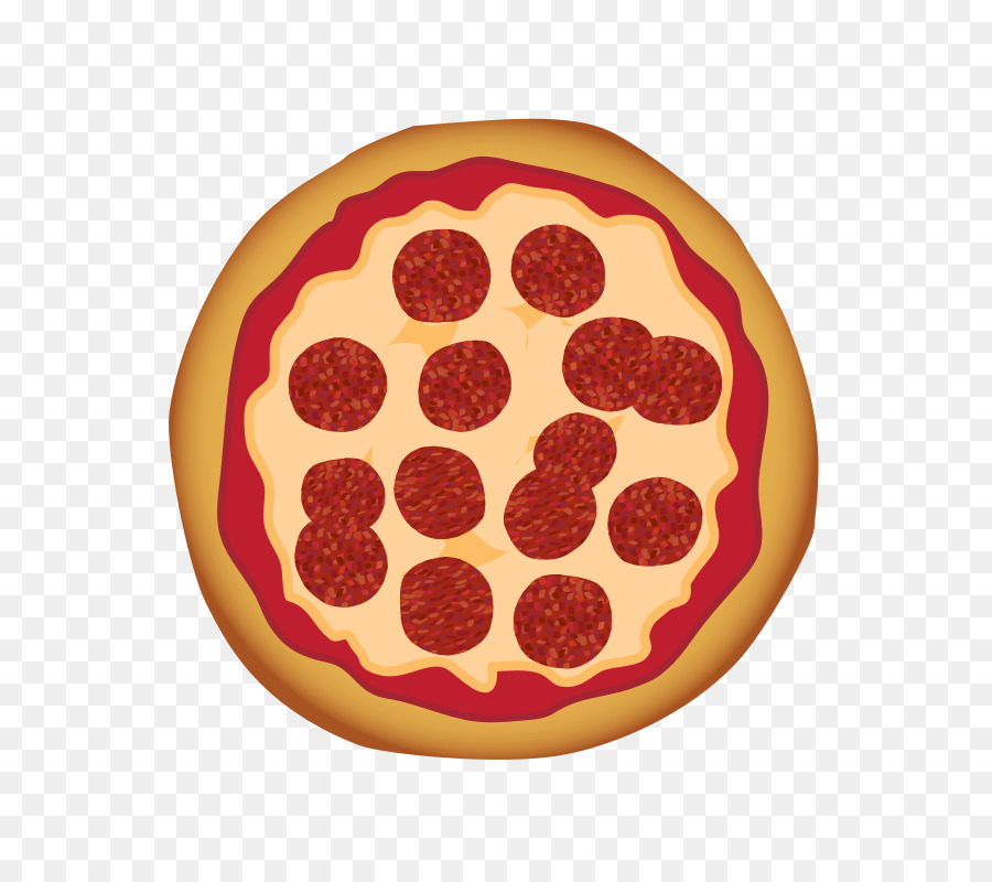 Sicilian Pizza Pepperoni Salami Clip Art