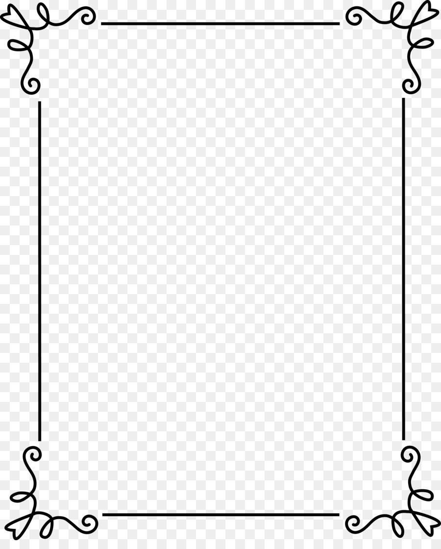 Picture frame Ornament Clip art - Frame Outline Cliparts png ...