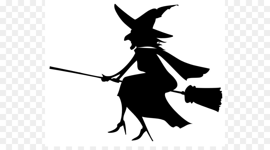 La brujería en blanco y Negro de Halloween Clip art - Las Brujas ...