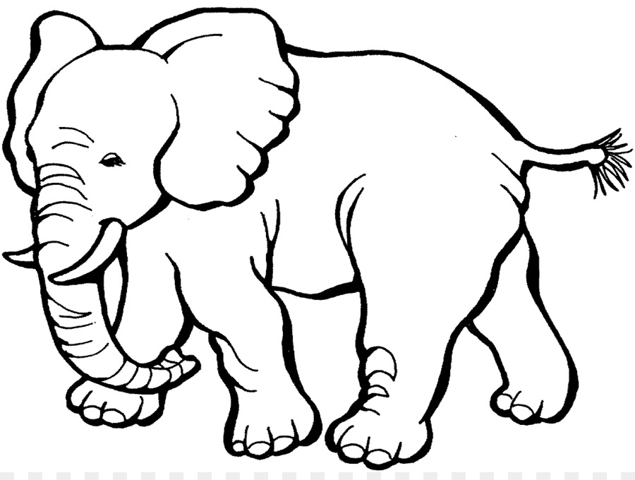 Coloring Book Elephant Child Page