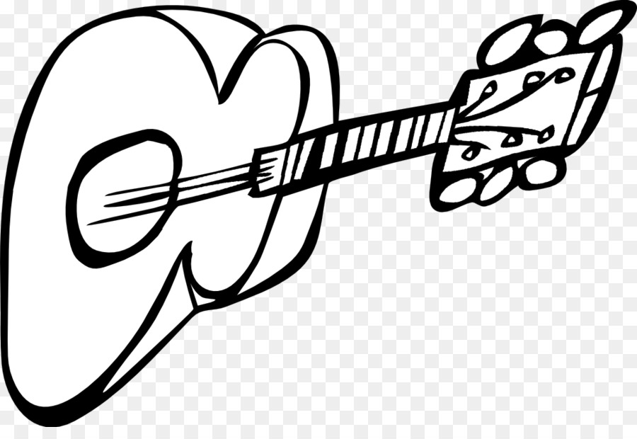 Electric guitar black and white clip art lambang black n white