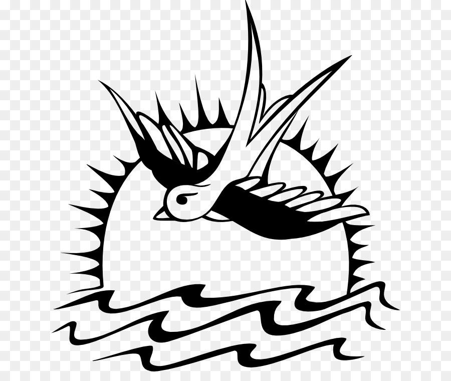 Jack Sparrow Swallow Tattoo T Shirt Pirates Of The Caribbean Black