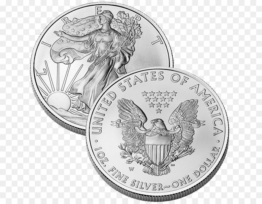 West Point Mint American Silver Eagle Münze Silber Münzen Png Bild