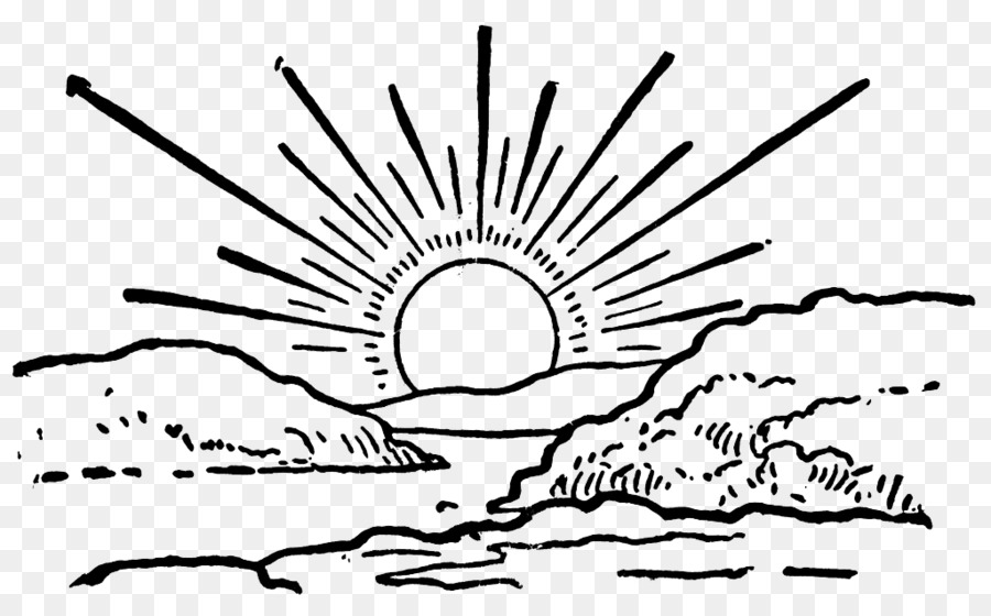 sunrise sunset clip art sunrise png file png download 1024 627 rh kisspng com Simple Black and White Sunrise Sunrise Drawing Black and White