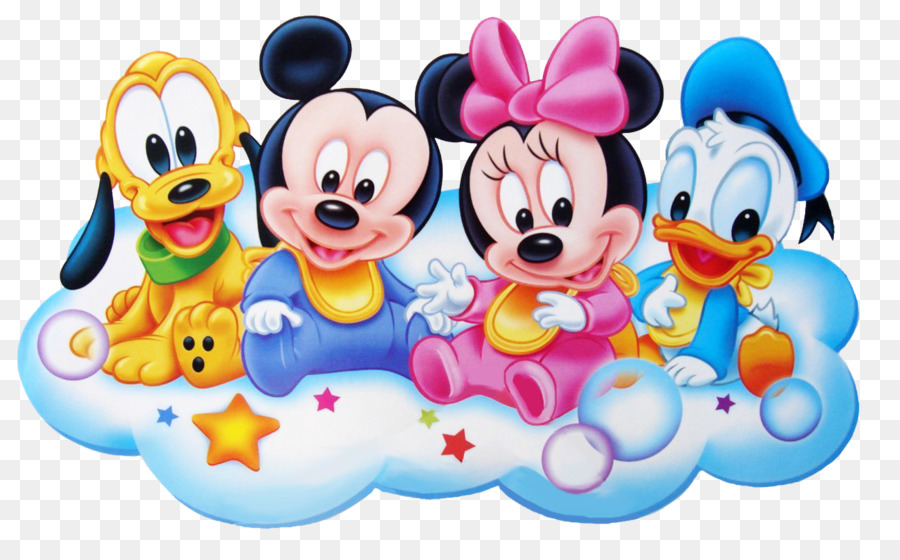 Mickey mouse minnie mouse pluto donald duck infant disney babies cliparts png download 1280 - Photo minnie et mickey bebe ...