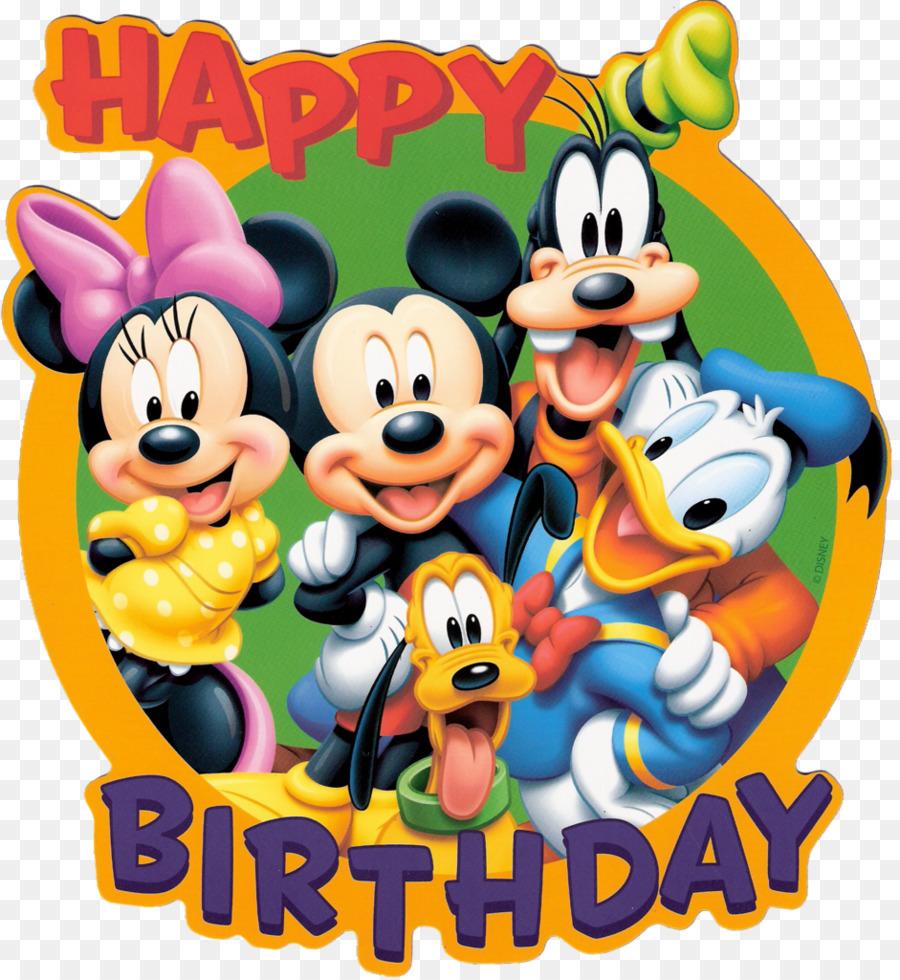 Mickey Mouse Birthday cake Cartoon - Disney Bday Cliparts