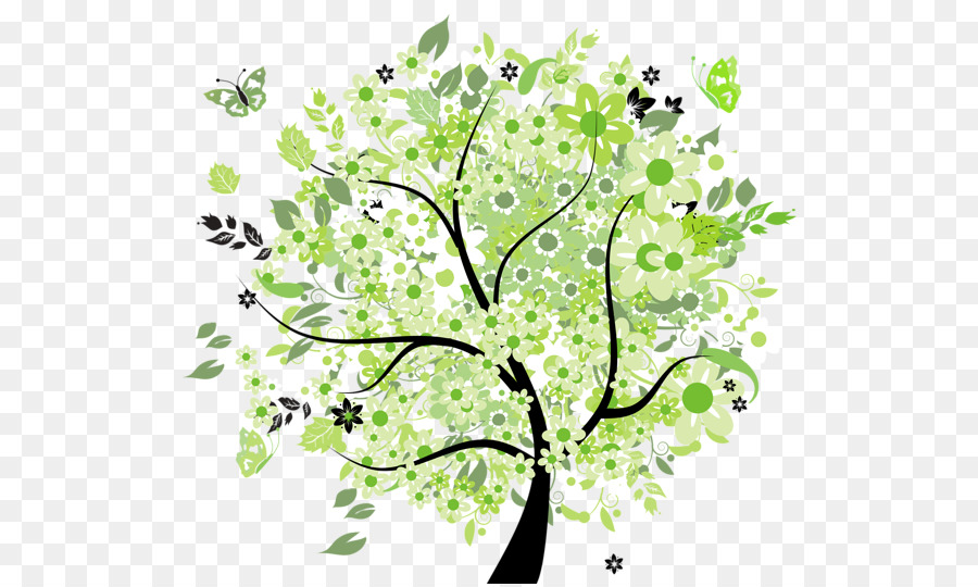 Tree Spring Clip Art Transparent Tree Cliparts Png Download 600