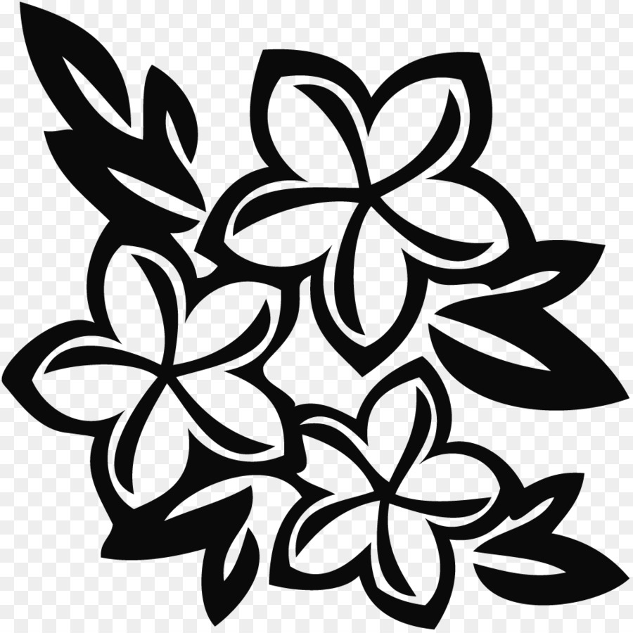 Hawaii Drawing Flower Clip Art Tropical Line Cliparts Png Download