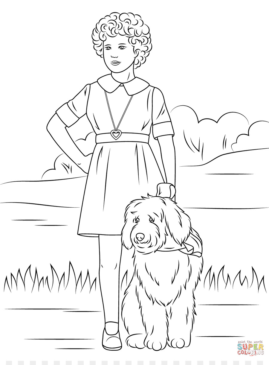 Little Orphan Annie Coloring book Page Child - Ipad Coloring Pages ...