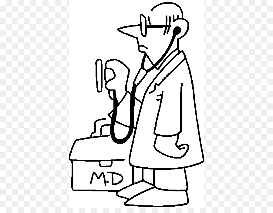 Physician Black And White Clip Art