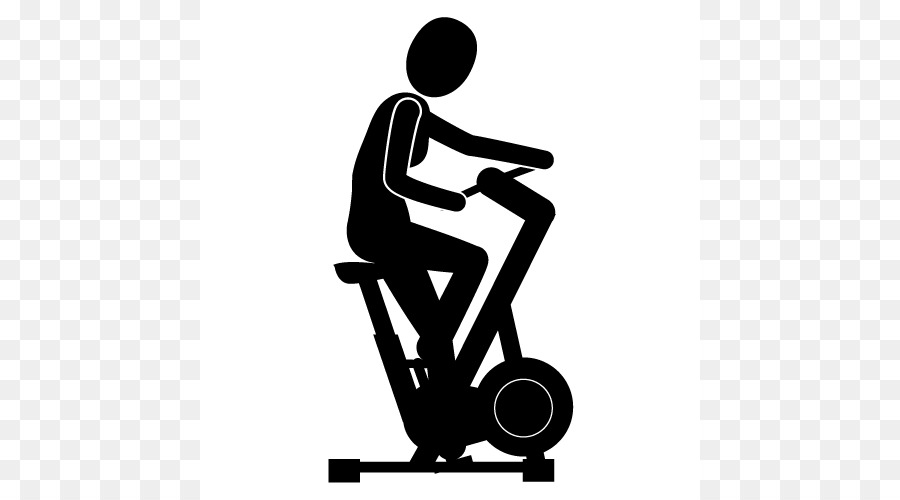 stationary bicycle physical exercise clip art exercise silhouette rh kisspng com clip art exercise symbols clipart exercising