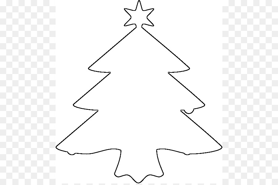 Christmas Tree Outline Clip Art Outline Of A Tree Drawing Png