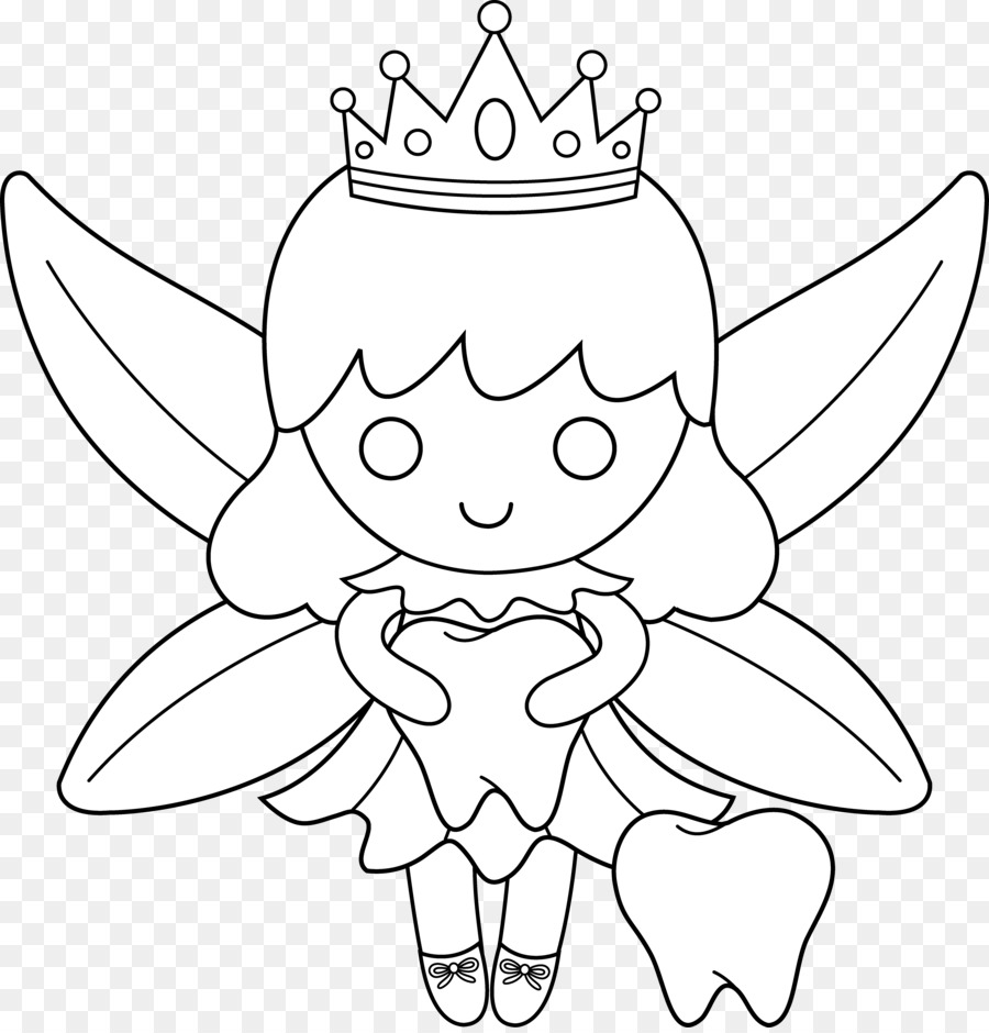 Tooth fairy Coloring book - Toothfairy Cliparts png download - 6436 ...