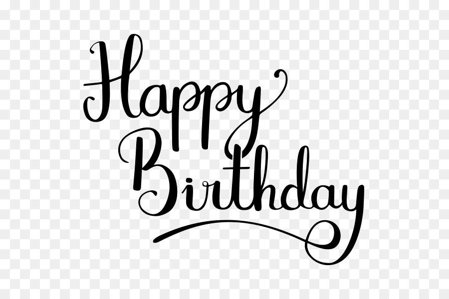 Birthday dribbble clip art happy birthday calligraphy png