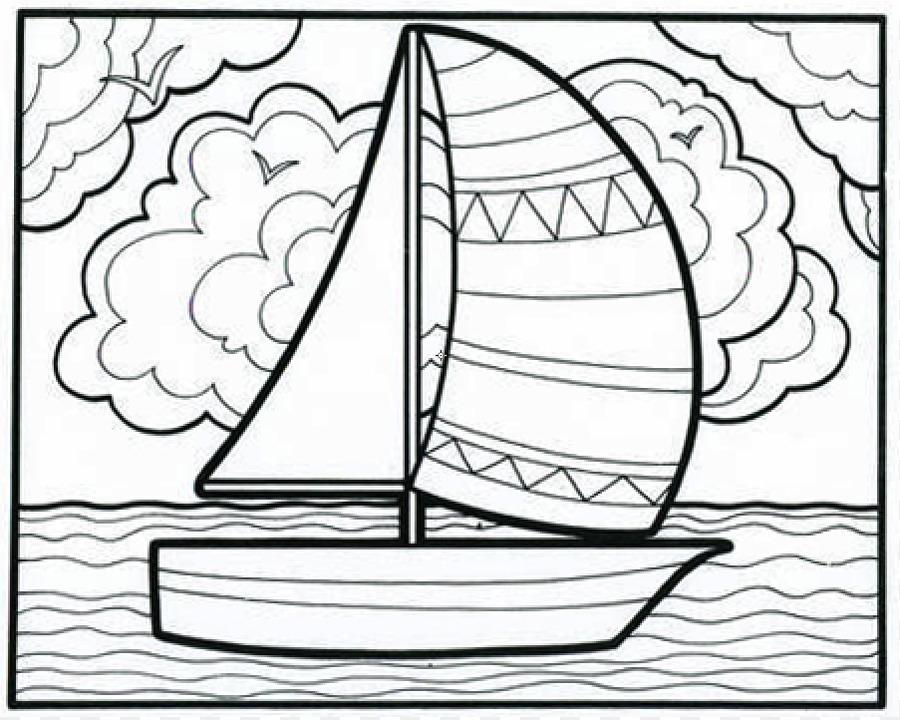 Libro para colorear Doodle en la Página - Velero De Fotos Para Niños ...