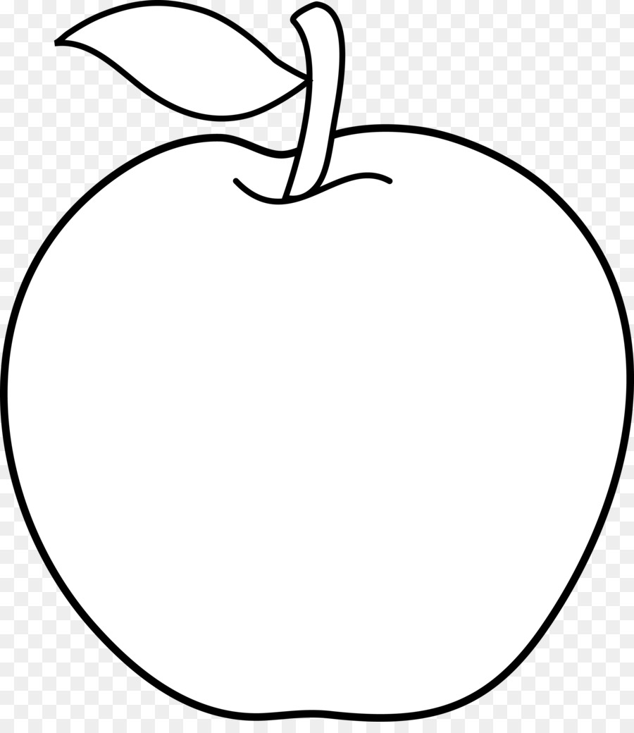 black and white line art cartoon clip art white apple