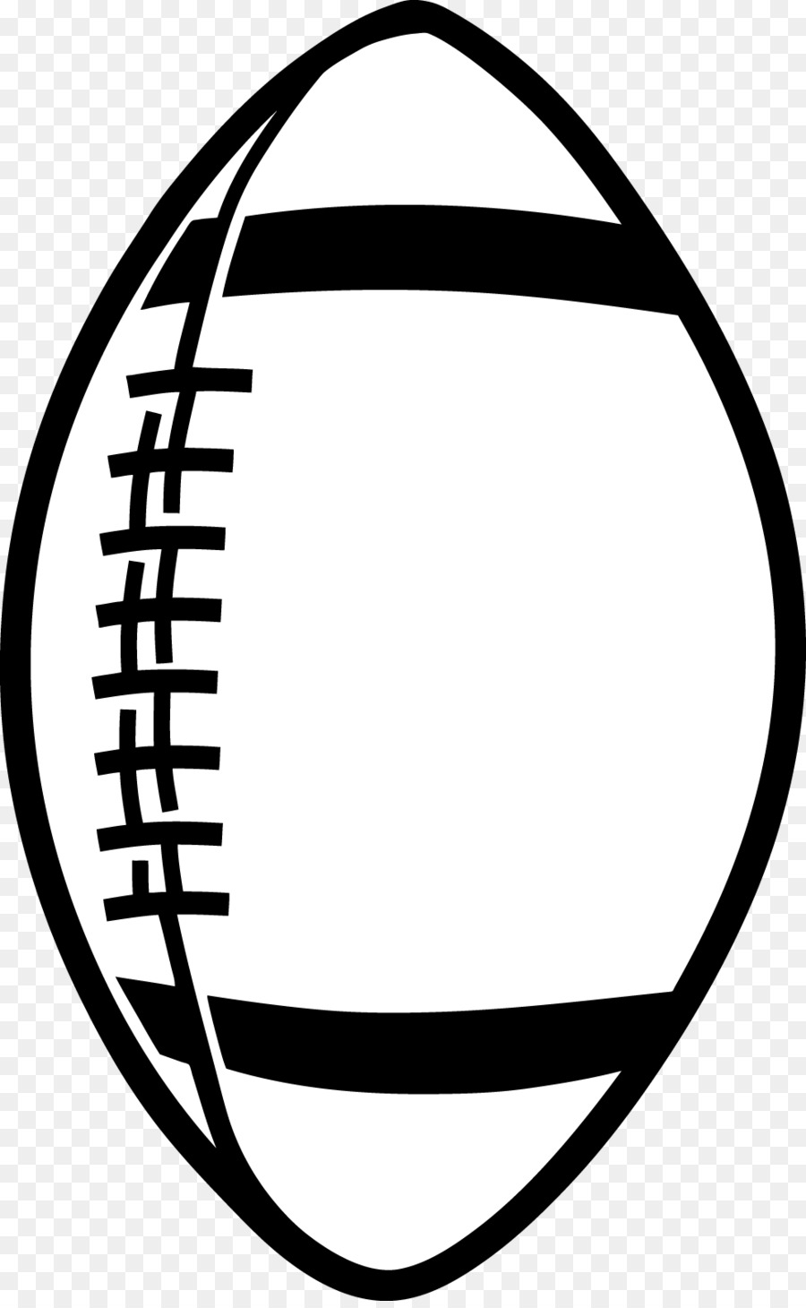 american football black and white clip art