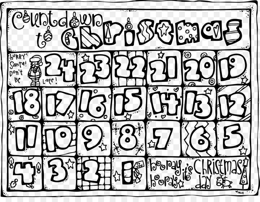 christmas coloring book advent calendar countdown christmas countdown cliparts