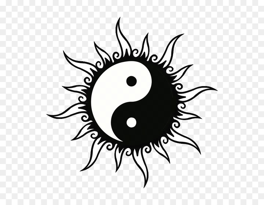 Tattoo Yin And Yang Symbol Black And White Sun Png Download 700