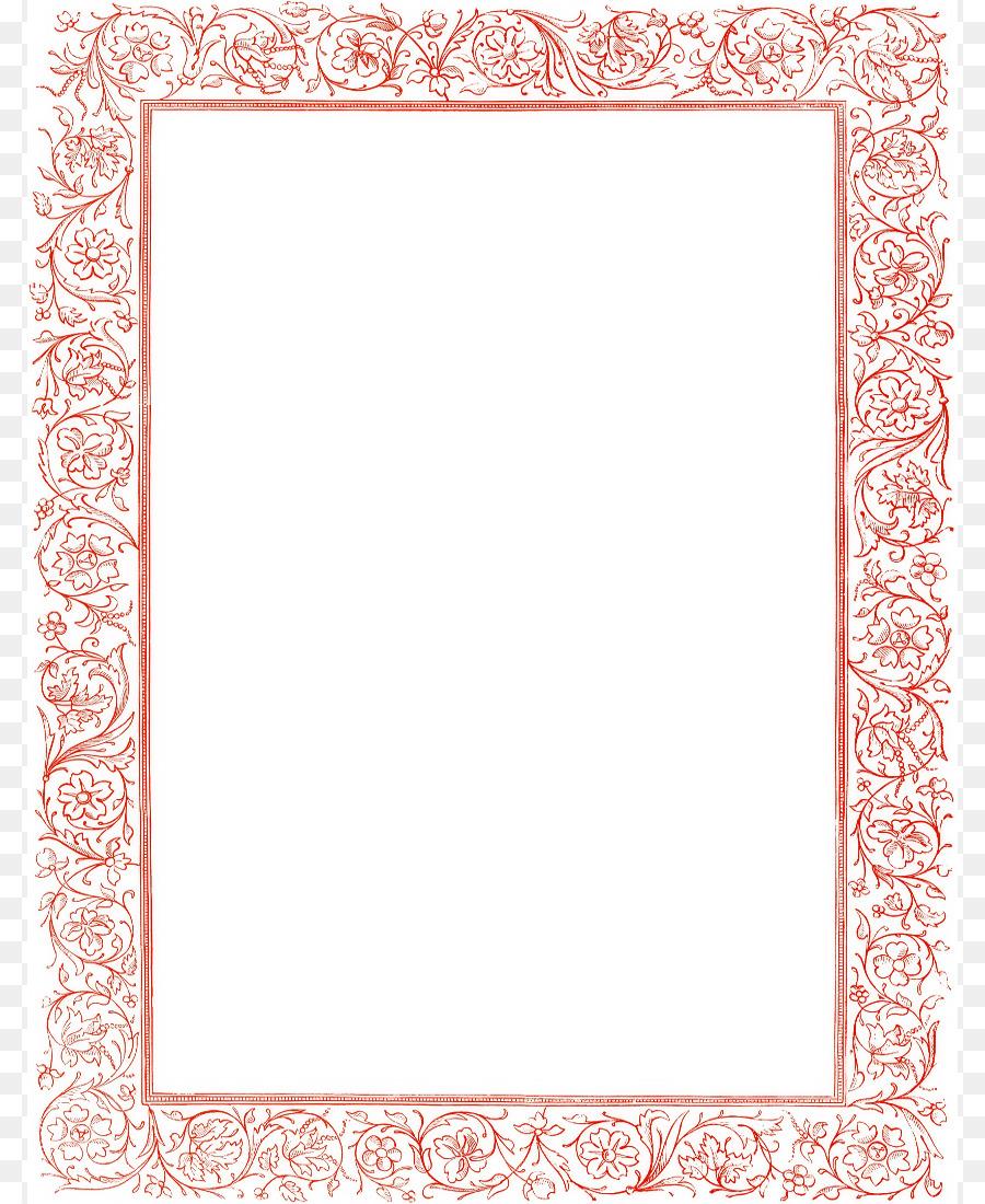 Victorian Era Clip Art Pretty Page Borders Png 850 1100 Free Transpa
