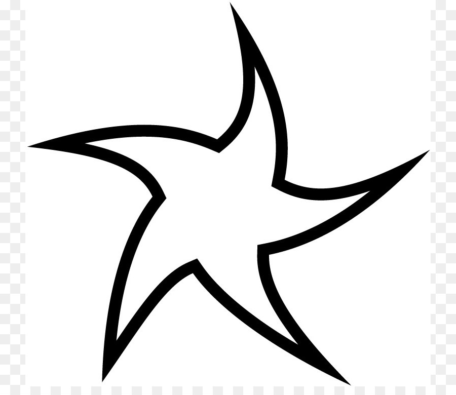 La estrella de la Curva de la Línea de Punto de Clip art - La Línea ...
