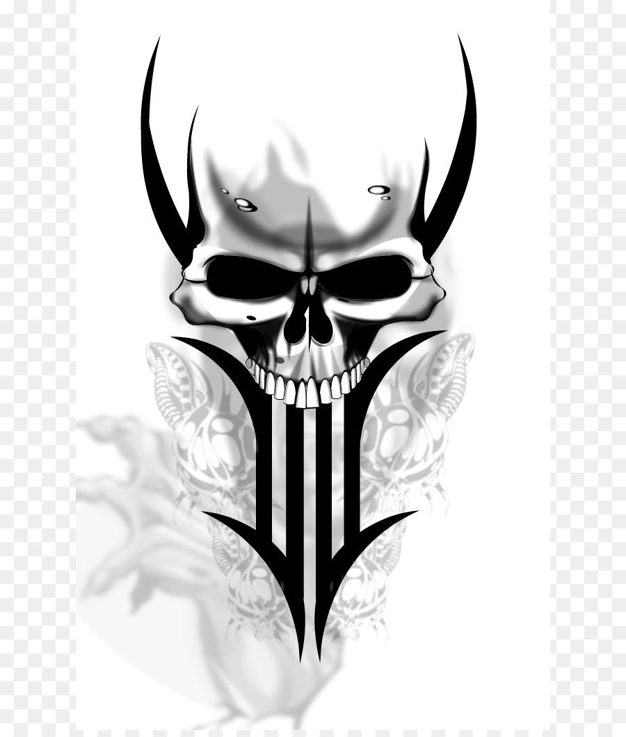 Tattoo Human skull symbolism Flash - Evil Skull Designs png download ...