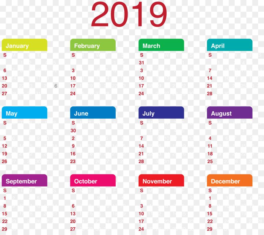 calendar new year clip art 2019 calendar transparent png clip art
