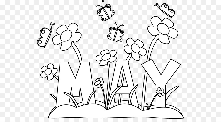 Coloring Book May Day Maypole Devotions To The Blessed Virgin Mary