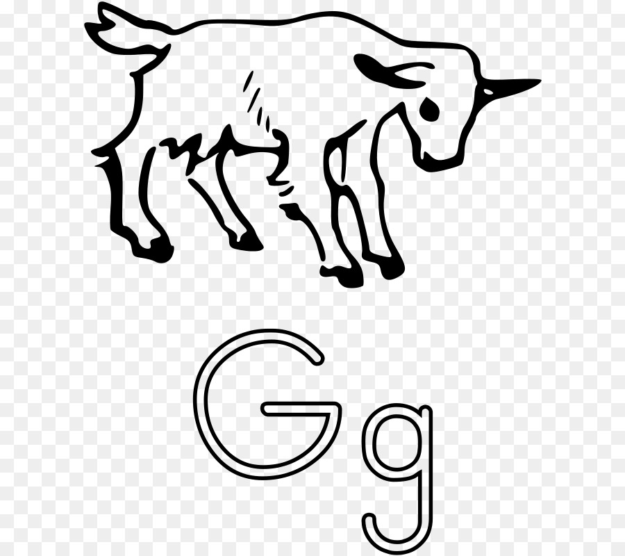 Pygmy Goat G Is For Coloring Book Page Clip Art