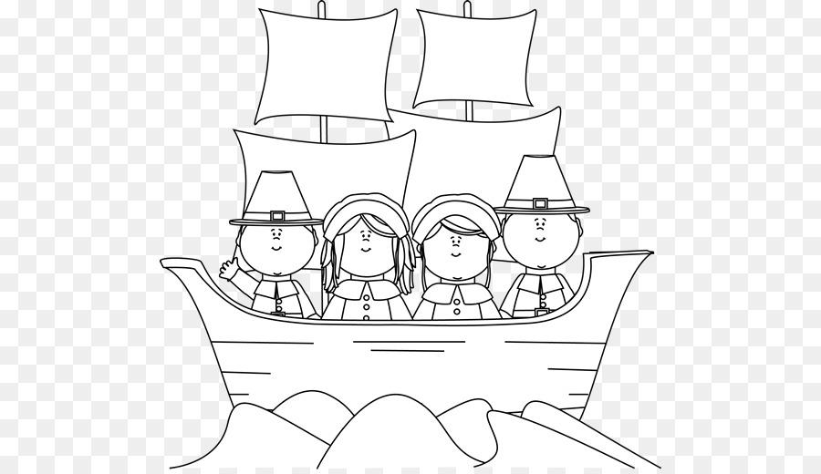 Plymouth libro para Colorear Mayflower Peregrinos de acción de ...
