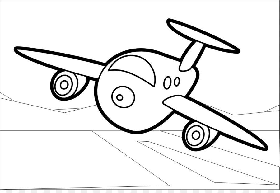 Avión de libro para Colorear de Dibujo de la Línea de arte - Mapache ...