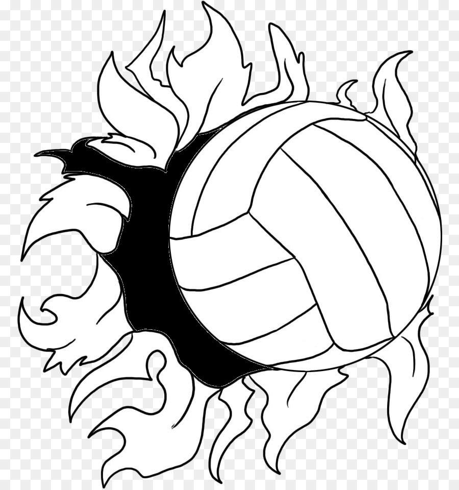 Voleibol libro para Colorear Página Adulto - Corte De Voleibol De La ...