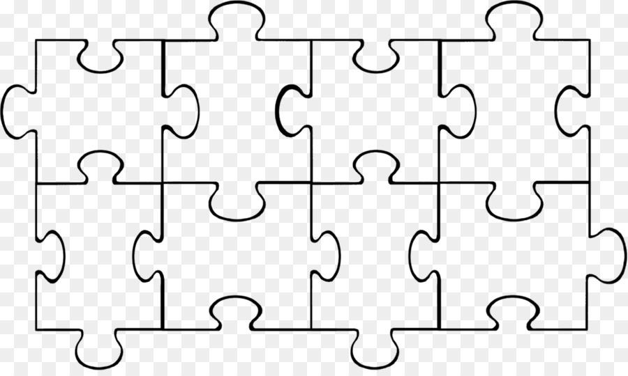 Jigsaw puzzle Coloring book Clip art - Puzzle Template png download ...
