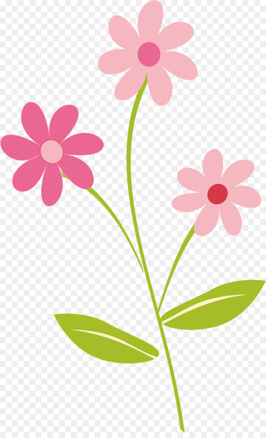 Pink Flowers Clip Art Flowery Border Cliparts Png Download 984
