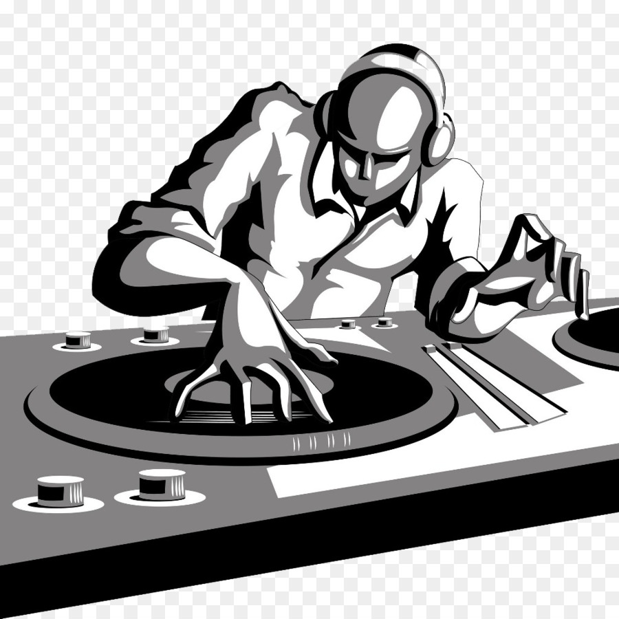Disc jockey DJ mixer Cartoon Clip art - Rap PNG File png ...